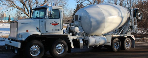 concrete truck side
