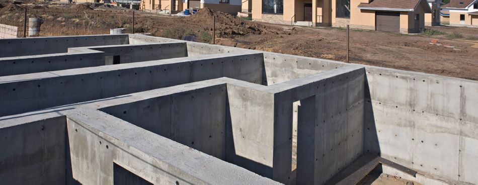 poured cement walls